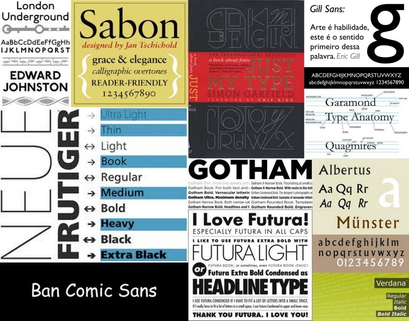 fonts collage