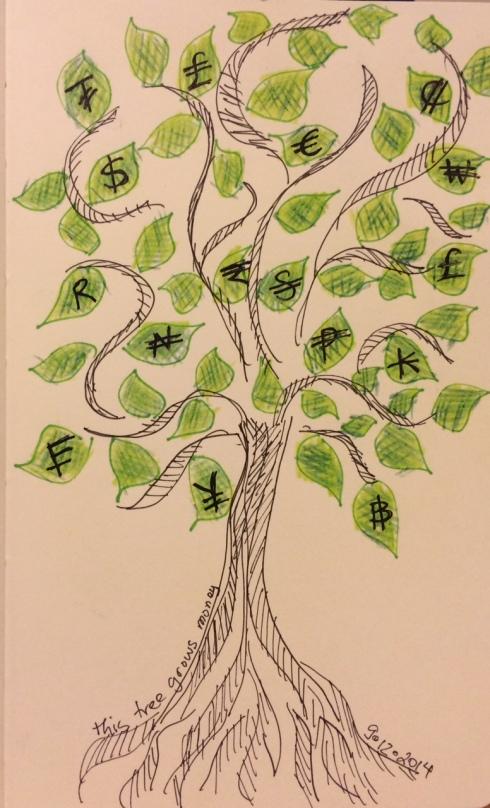 illustration friday money