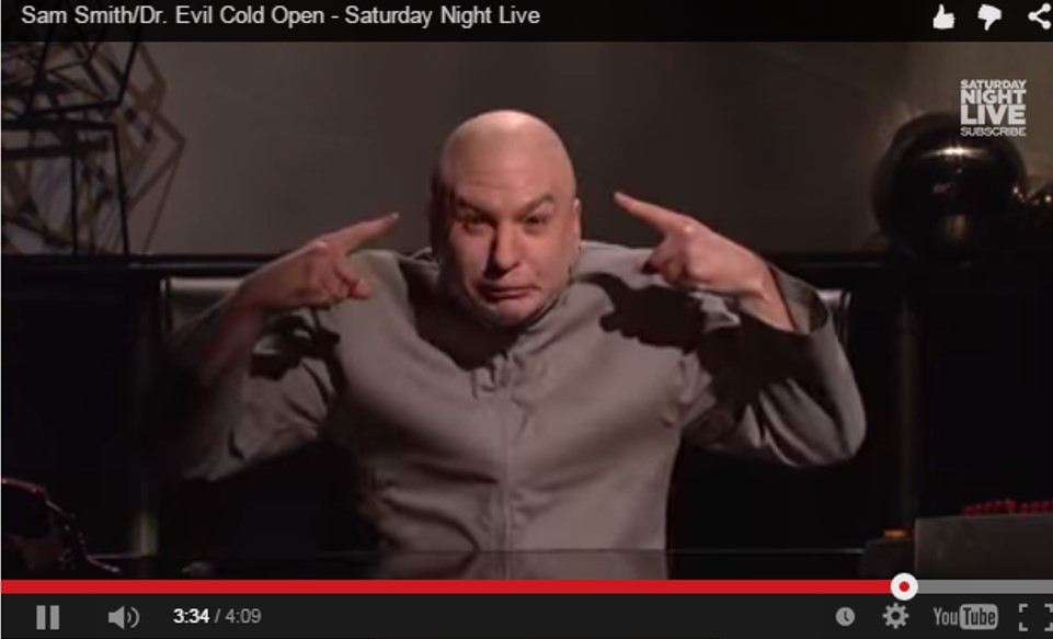 dr. evil makes a point