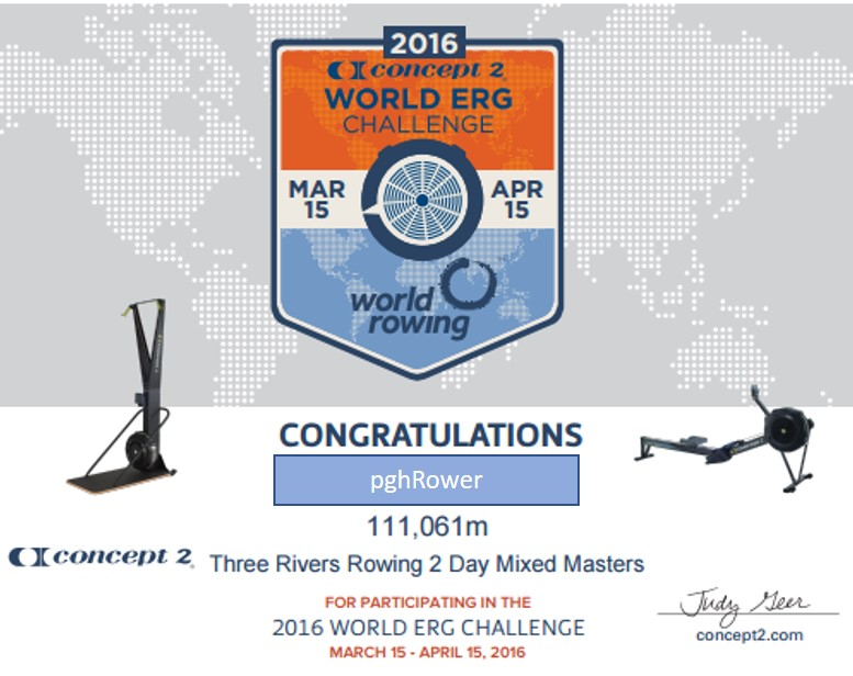 world erg challenge 15 apr 2016